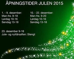 Åpningstider Julen 2015